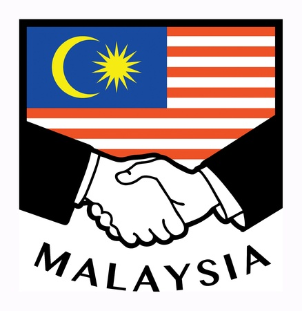 syndicate: Malaysia flag and business handshake