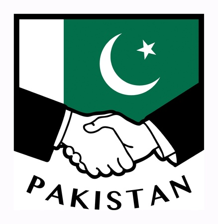syndicate: Pakistan flag and business handshake