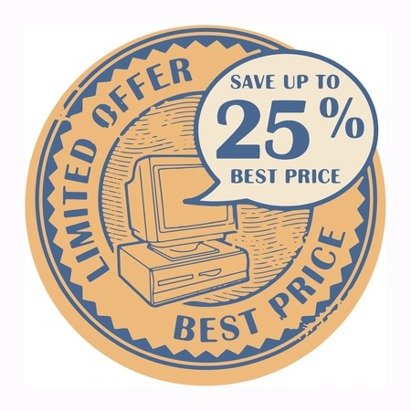Grunge rubber stamp with the text Best Price, Limited Offer written inside the stamp Vector