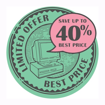 Grunge rubber stamp with the text Best Price, Limited Offer written inside the stamp Stock Vector - 18570682