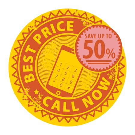 important phone call: Stamp with the text Best Price, Call Now inside