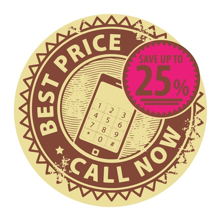 Stamp with the text Best Price, Call Now inside Vector