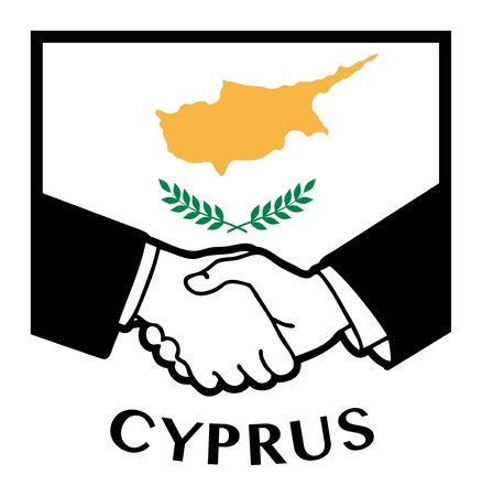 syndicate: Cyprus flag and business handshake Illustration