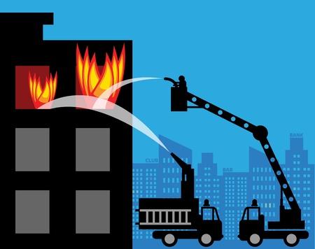 manguera: Camiones de bomberos