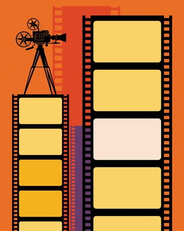 film projector: Abstract cinema background