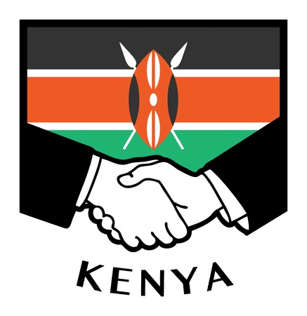 Kenya flag and business handshake Stock Vector - 18784244