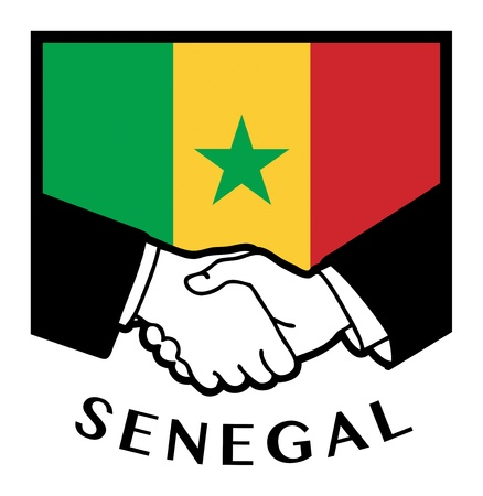 syndicate: Senegal flag and business handshake