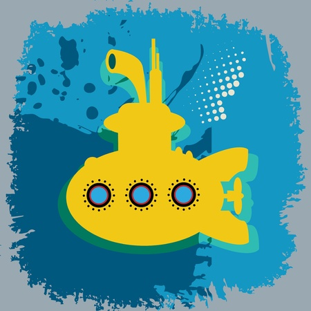 Yellow submarine abstract Stock Vector - 18784350