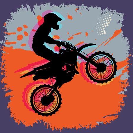 motocross riders: Motocross abstract background Illustration