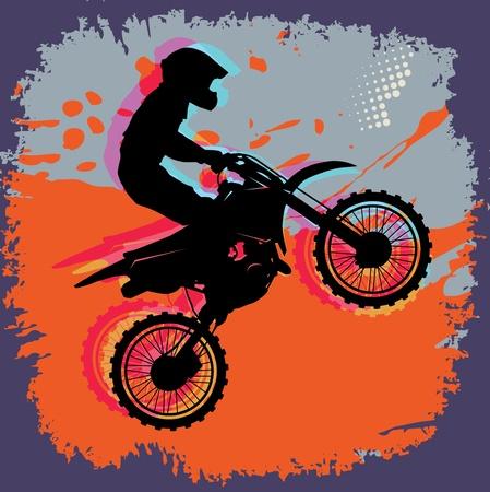 Motocross astratto