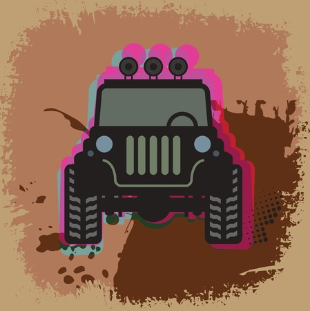 Off-road abstract Vector