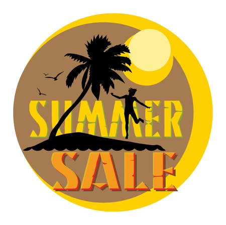 Summer sale abstract Vector