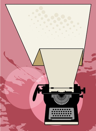 Vintage typewriter abstract Stock Vector - 18784317