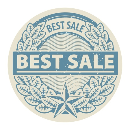 Grunge rubber stamp with the words Best Sale written inside the stamp Stock Vector - 18879810
