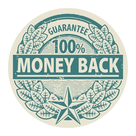 Grunge rubber stamp with the words Money Back written inside the stamp Stock Vector - 18879815