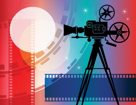 movie camera: Abstract cinema background