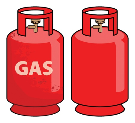 pressurized: Propane gas cylinder Illustration