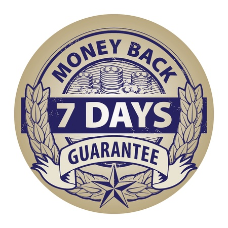 Abstract grunge rubber stamp with the word money back guarantee written inside the stamp Vector