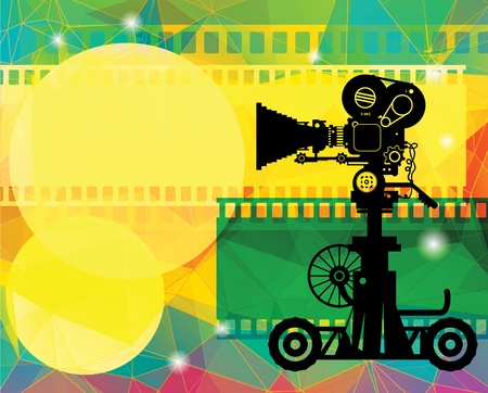 broadcasting: Abstract cinema background