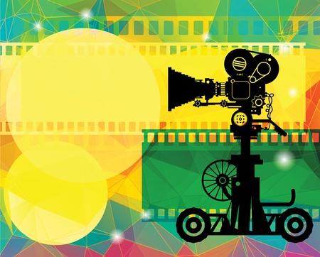 broadcasting: Fondo abstracto de cine Vectores