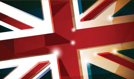 bandiera inghilterra: Sfondo della bandiera britannica abstract Vettoriali
