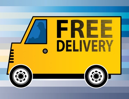 Free Delivery truck Stock Vector - 19505288