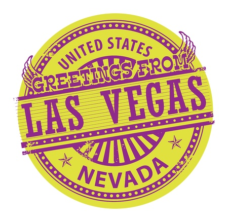 nevada: Grunge rubber stamp with text Greetings from Las Vegas, Nevada Illustration