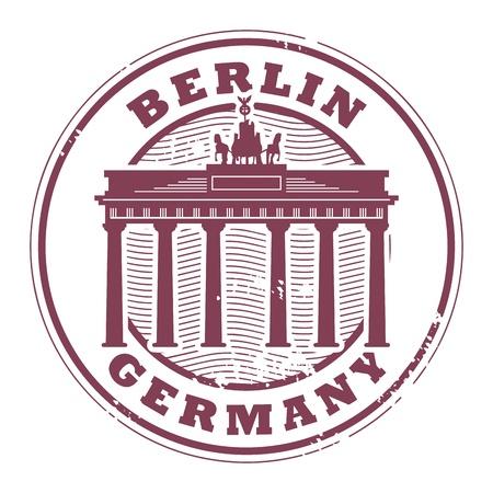 Grunge rubber stempel met woorden Berlijn, Duitsland binnen