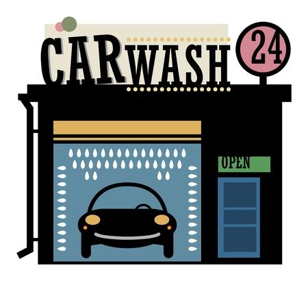 Car wash station Stock Vector - 19796587