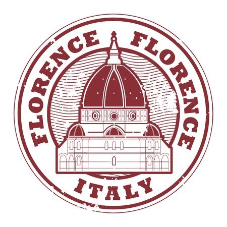 florence italy: Grunge timbro di gomma con le parole Firenze, Italia all'interno