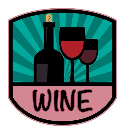 Wine label Stock Vector - 19796570