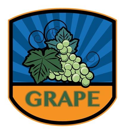 Grape label Stock Vector - 19796602