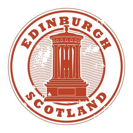 edinburgh: Grunge rubber stempel met de naam van Edinburgh, Schotland geschreven in de stempel