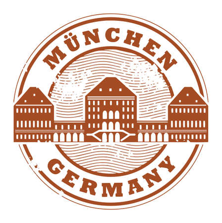 Grunge rubber stamp with words Munchen, Germany inside Vector