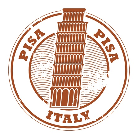 italy culture: Grunge rubber stamp with words Pisa, Italy inside Illustration