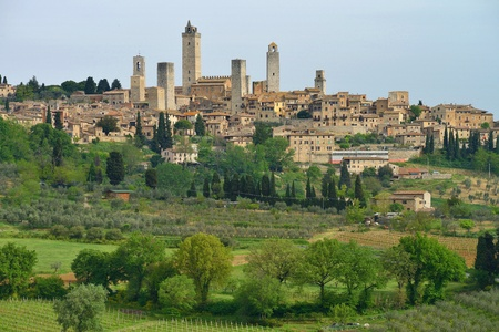 defensive: Italy, Tuscany  San Gimignano  Medieval town with 14 defensive towers