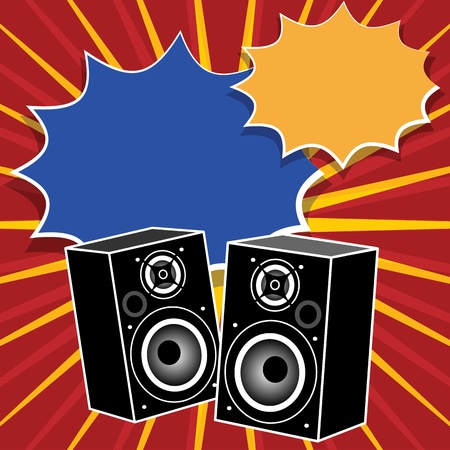 Abstract background with the speakers inside Stock Vector - 19796749