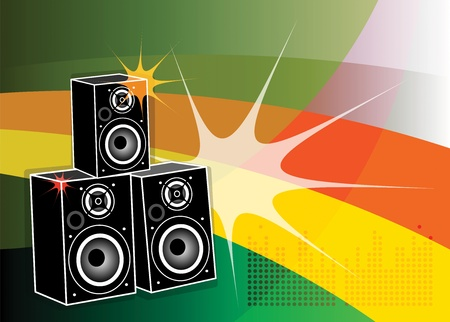 Abstract background with the speakers inside Vector