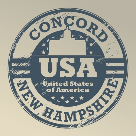 Grunge rubber stamp with name of New Hampshire, Concord Stock Vector - 20172060