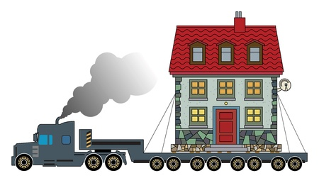 Truck delivers the house Stock Vector - 20172055
