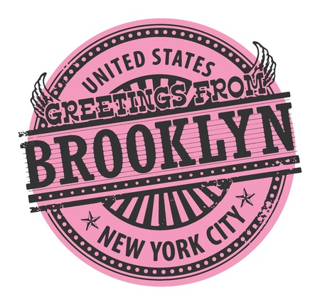brooklyn: Grunge rubber stamp with text Greetings from Brooklyn, New York City Illustration