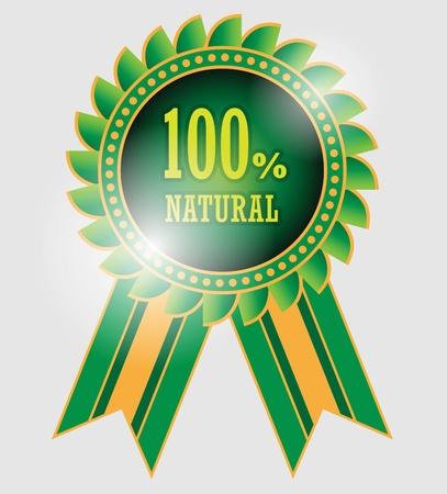 100 percent natural label Stock Vector - 20172152