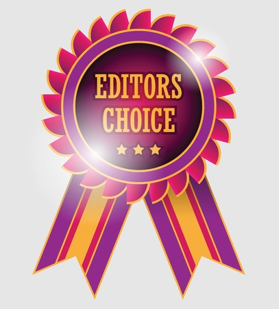 editors: Editors choice label Illustration