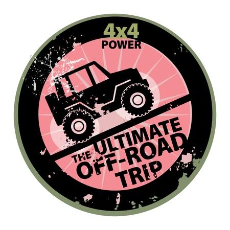 Off-road abstrakte Aufkleber Illustration