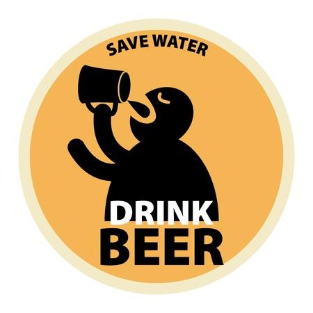 Drink Beer label