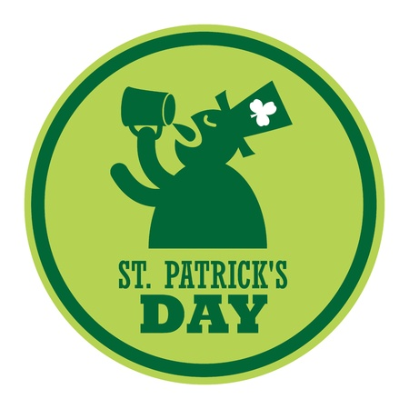 Green label and the text St  Patrick s Day written inside Stock Vector - 20723837