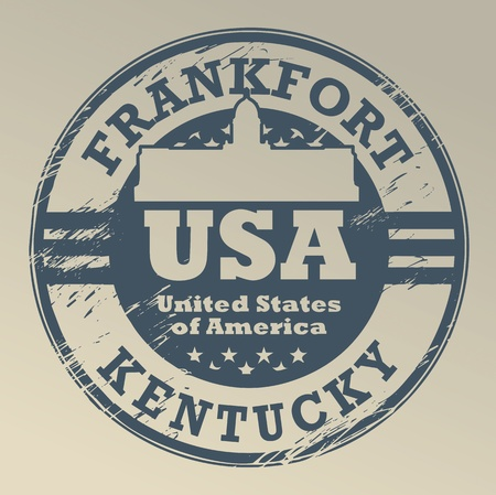 Grunge rubber stamp with name of Kentucky, Frankfort Vector