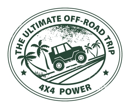 off road vehicle: Off-road abstract sticker