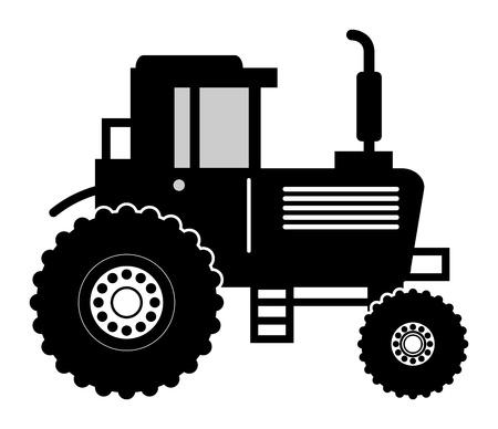 Farm tractor symbol Vector