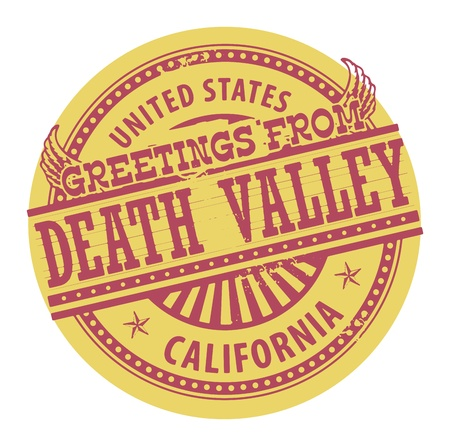 death valley: Grunge color stamp with text Greetings from Death Valley Illustration